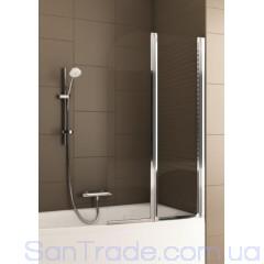 Шторка на ванну Aquaform Modern 2 хром/прозрачное