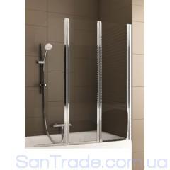 Шторка на ванну Aquaform Modern 3 хром/прозрачное