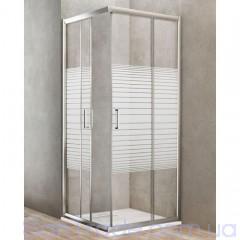 Душевая кабина Dusel A-513 (80x80x190) стекло полоска