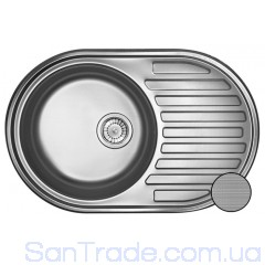 Мойка стальная Galati (EKO) Dana textura 9685 (77x50)