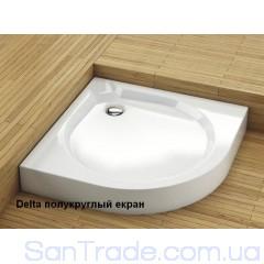 Поддон душевой Aquaform Delta полукруглый с экраном (80x80)