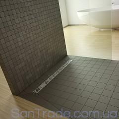 Душевая плита Radaway прямоугольная (1090x790) с линейным трапом вдоль длинной стороны под кафель 8-12 мм (1090x790)