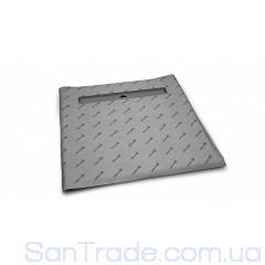 Душевая плита Radaway квадратная (1090x1090) с линейным трапом под кафель 8-12 мм