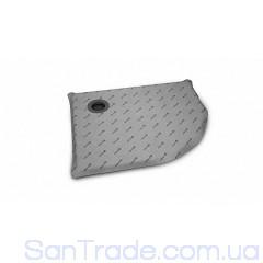 Душевая плита Radaway полугруглая (990x790) ассиметричная с компактным трапом