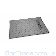 Душевая плита Radaway прямоугольная (1090x790) с линейным трапом вдоль короткой стороны под кафель 8-12 мм