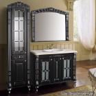 Комплект мебели Атолл Александрия 100 Black фасад классика, камень