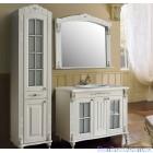 Комплект мебели Атолл Александрия 100 Ivory  фасад каннелюры, камень