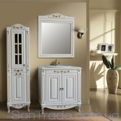 Комплект мебели Атолл Верона 85 Dorato камень, фасад декор