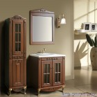 Комплект мебели Атолл Верона 85 Scuro камень, фасад витрина