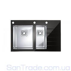 Мойка стальная Alveus Cristalix 20 (860x540x211) black 1099641