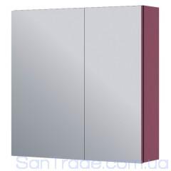 Шкаф с зеркалом Aquaform Amsterdam бордовый (600x600x160)