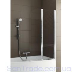 Шторка на ванну Aquaform Modern 2 матовый хром/прозрачное
