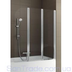 Шторка на ванну Aquaform Modern 3 матовый хром/прозрачное
