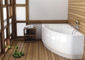 ванна акриловая угловая
